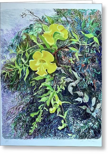 Catclaw Vine - Blue Cast Greeting Card