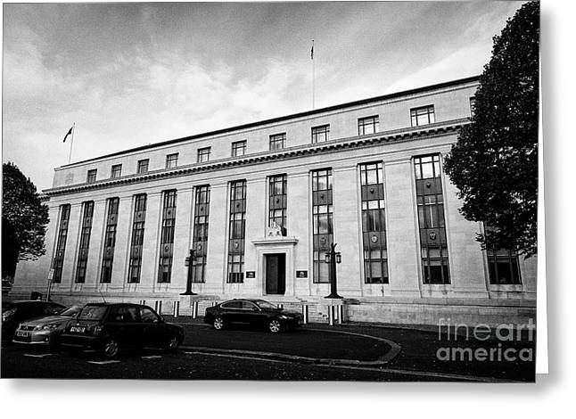 Cathays Park 1 Cp1 Old Crown Building Welsh Goverment Office Cardiff Wales United Kingdom Greeting Card