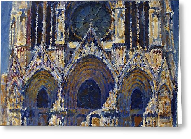 Greeting Card featuring the painting Cathedral 1 by Valeriy Mavlo