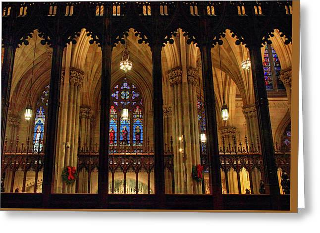 Greeting Card featuring the photograph Cathedral Arches by Jessica Jenney