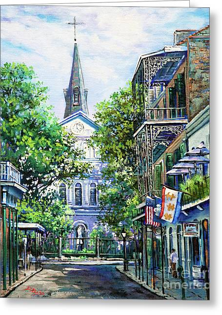 Cathedral At Orleans Greeting Card