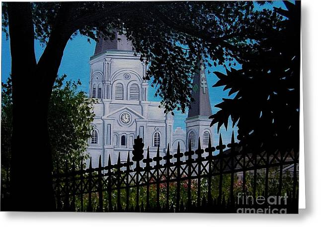 Cathedral At The Square Greeting Card