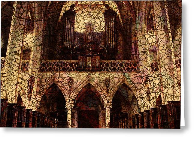 Cathedral Greeting Card by Barbara Berney