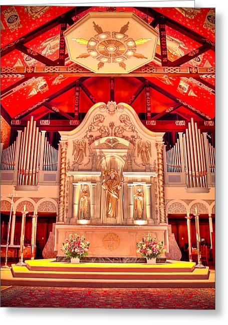Cathedral Basilica Of St. Augustine Greeting Card by Rich Leighton