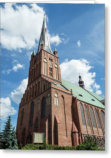Cathedral Basilica Of St. James The Apostle, Szczecin A Greeting Card