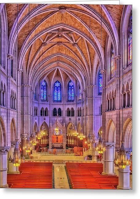 Cathedral Basilica Of The Sacred Heart Newark Nj II Greeting Card by Susan Candelario