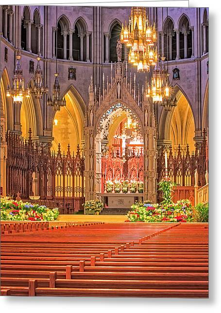 Greeting Card featuring the photograph Cathedral Basilica Of The Sacred Heart Newark Nj by Susan Candelario
