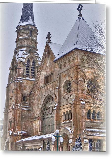 Cathedral Christmas Greeting Card by Mike Griffiths