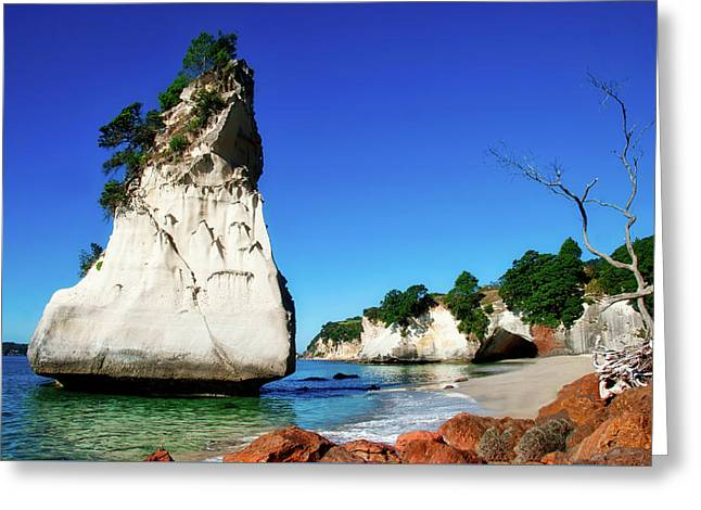 Greeting Card featuring the photograph Cathedral Cove by Mark Dodd