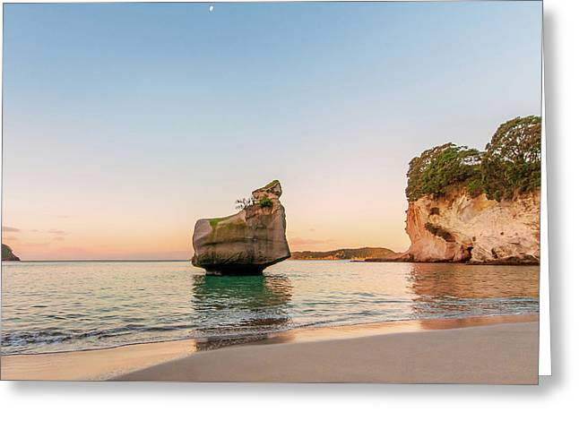 Cathedral Cove, New Zealand Greeting Card