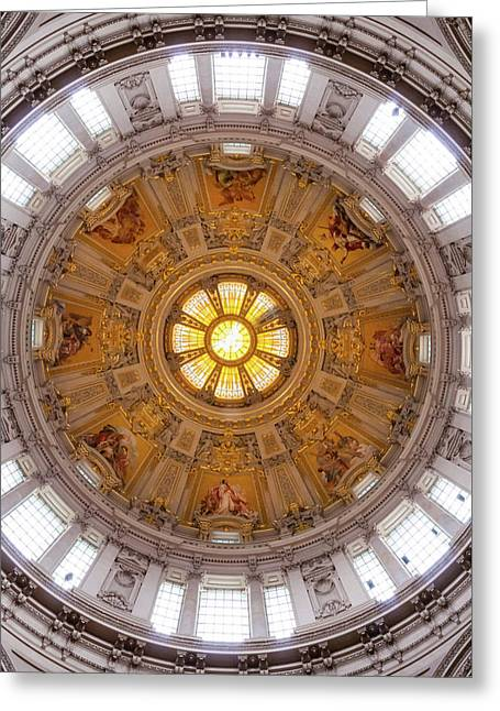 Greeting Card featuring the photograph Cathedral Dome  by Geoff Smith