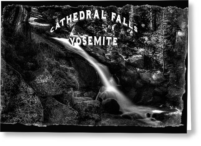 Cathedral Falls From The Tioga Pass Road Greeting Card