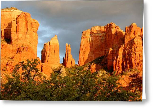 Arizona Sedona Greeting Cards - Cathedral Formation Greeting Card by Ellen Heaverlo