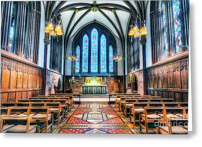 Cathedral Glow Greeting Card