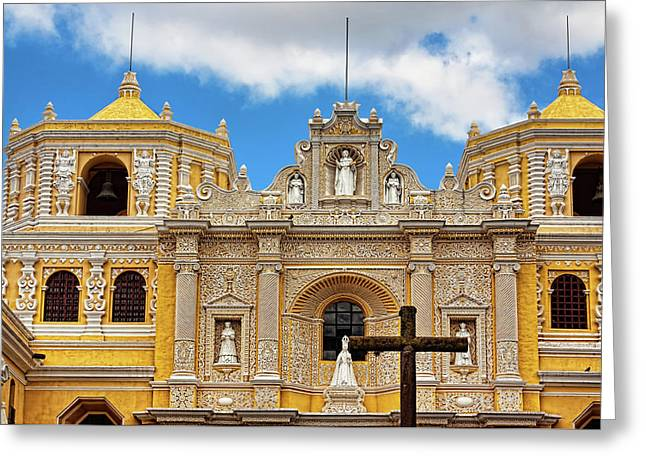 Cathedral In Antigua, Guatemala Greeting Card