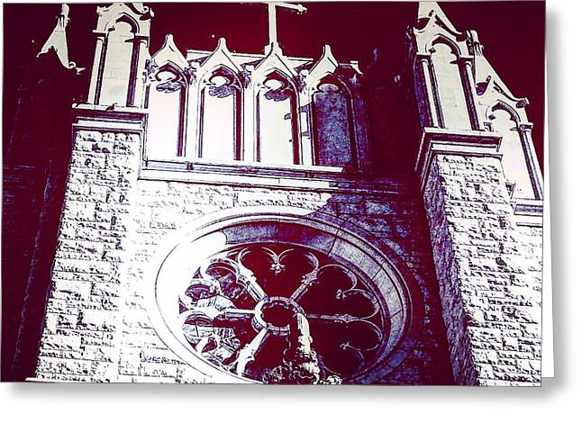 Cathedral In Archangel Glow Greeting Card