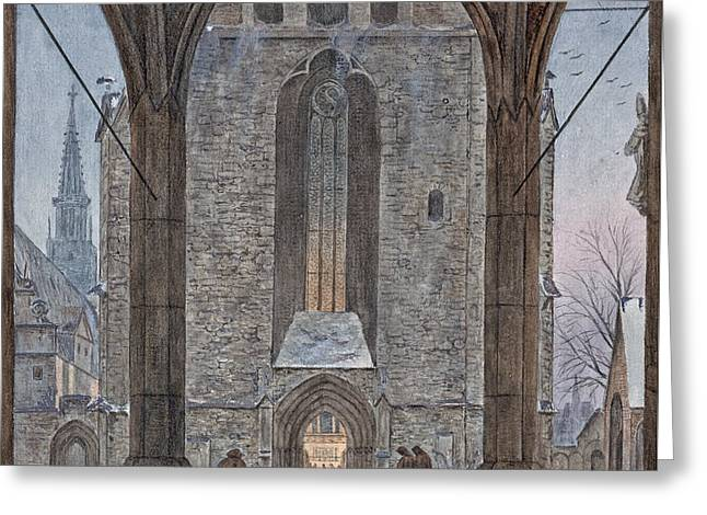 Cathedral In Winter Greeting Card