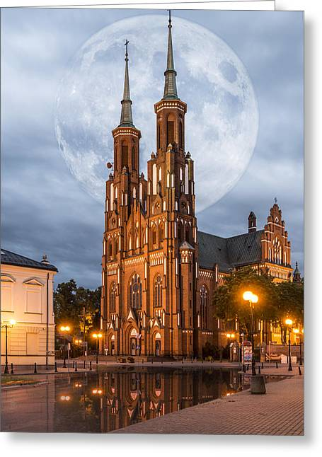 Greeting Card featuring the photograph Cathedral by Jaroslaw Grudzinski