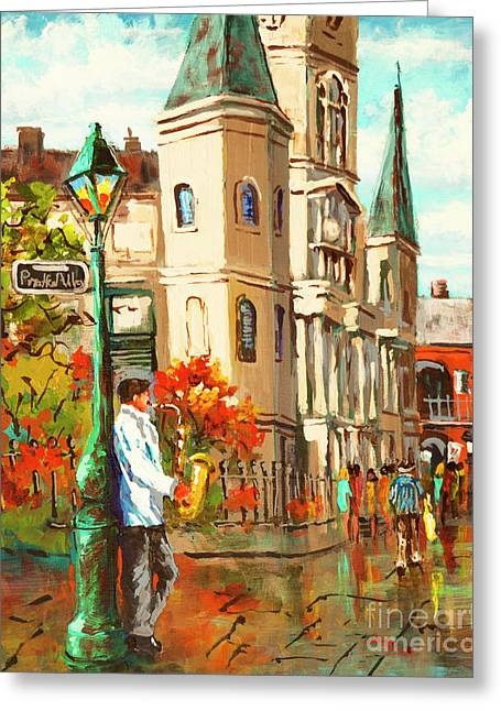 Cathedral Jazz Greeting Card