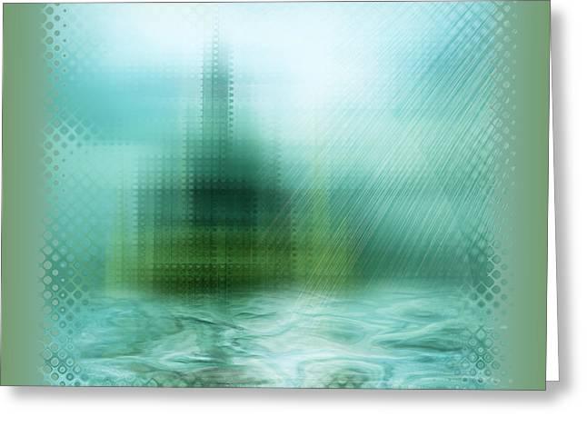 Cathedral Greeting Card by Li   van Saathoff