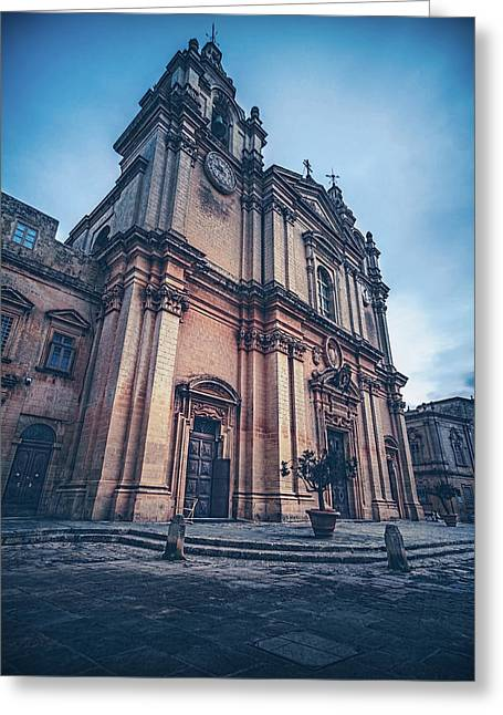 Cathedral Mdina Greeting Card