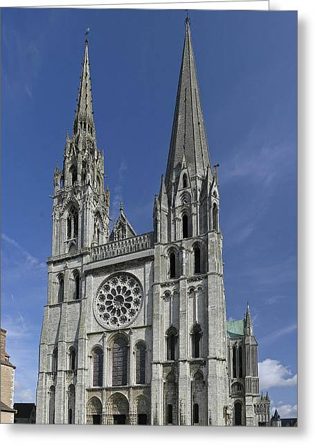 Cathedral Of Chartres Greeting Card by Gary Lobdell