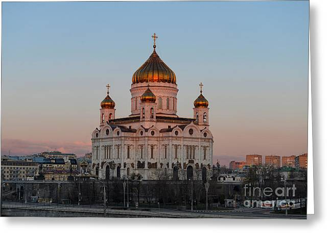 Cathedral Of Christ The Saviour In Moscow, Russia Greeting Card by Ivan Batinic