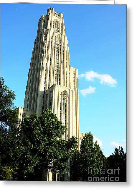 Cathedral Of Learning Greeting Cards - Cathedral of Learning Greeting Card by Thomas R Fletcher