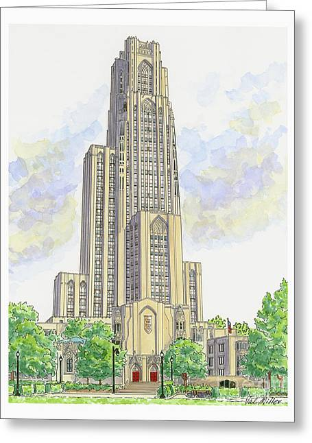 Cathedral Of Learning Greeting Card