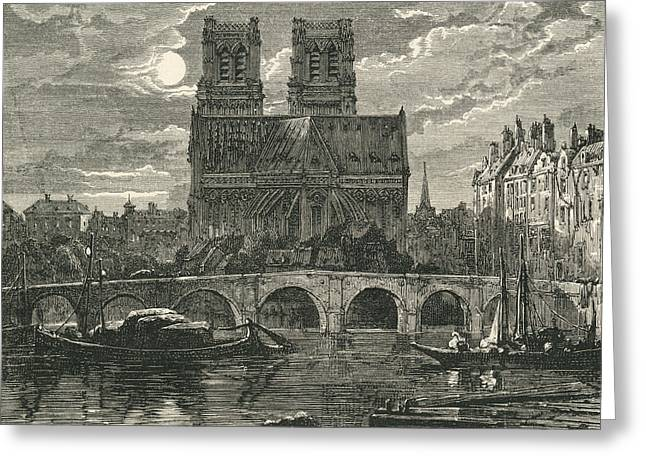 Cathedral Of Notre Dame, Paris, France Greeting Card