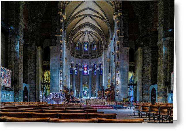 Greeting Card featuring the photograph Cathedral Of Saint John The Divine by Chris Lord