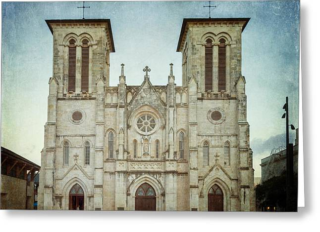 Cathedral Of San Fernando Greeting Card by Joan Carroll