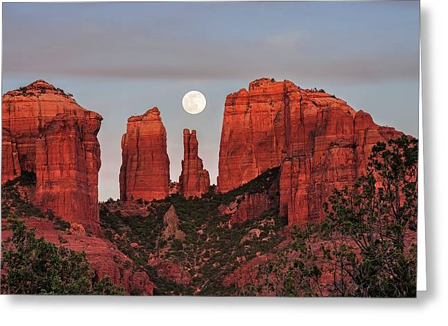 Cathedral Of The Moon Greeting Card by Loree Johnson