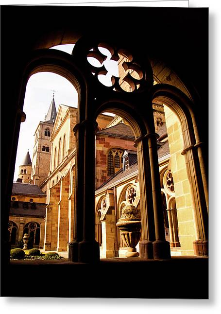 Cathedral Of Trier Window Greeting Card