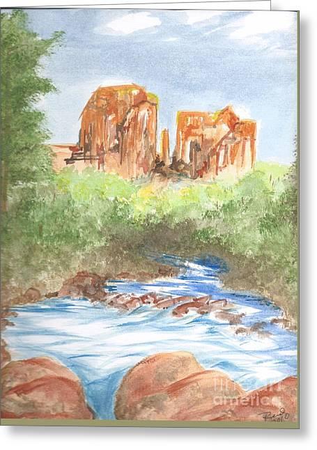 Cathedral Rock 2,  Sedona, Az. Greeting Card