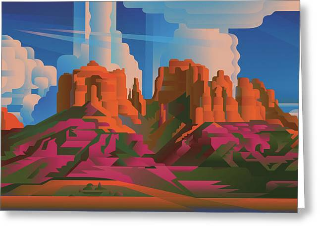 Cathedral Rock Arizona Greeting Card