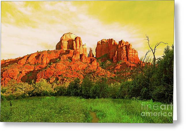 Cathedral Rock Az Greeting Card