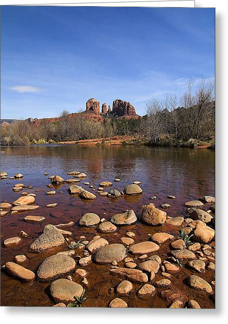 Best Sellers -  - Red Rock Crossing Greeting Cards - Cathedral Rock Greeting Card by Dan Wells