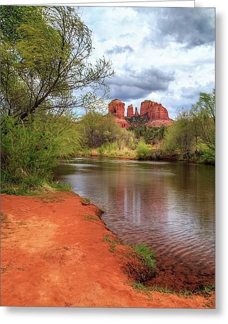 Cathedral Rock From Oak Creek Greeting Card