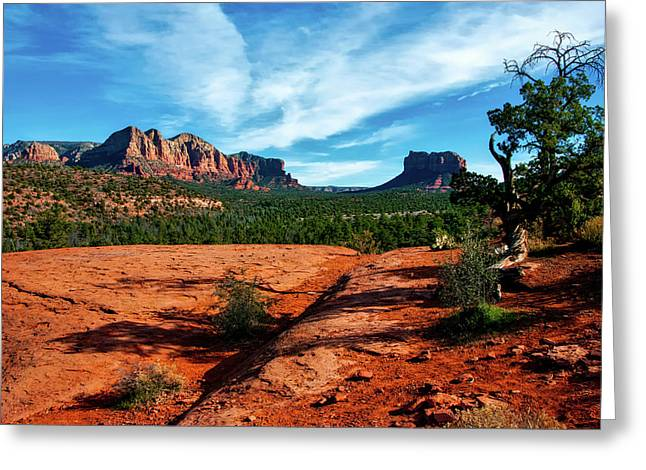 Cathedral Rock In Arizona Greeting Card by USFS Deborah Lee Soltesz