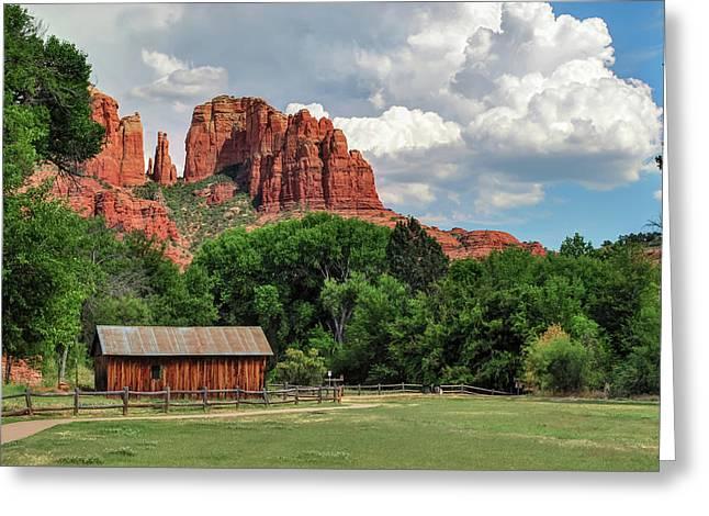 Cathedral Rock - Red Rock Crossing - Sedona Arizona Greeting Card