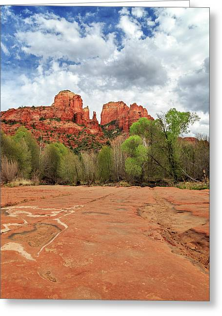 Greeting Card featuring the photograph Cathedral Rock Sedona by James Eddy