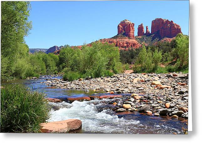 Cathedral Rock - Sedona Greeting Card by John Absher