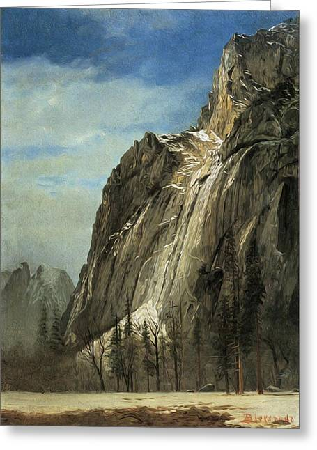 Cathedral Rocks A Yosemite View Greeting Card