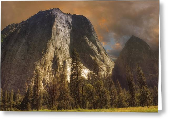 Greeting Card featuring the photograph Cathedral Rocks by Michael Cleere