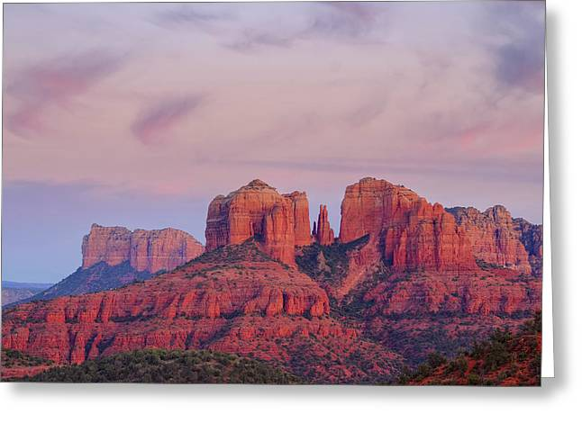 Greeting Card featuring the photograph Cathedral Rock by Patricia Davidson