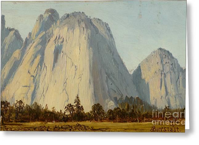 Cathedral Rocks  - Yosemite Valley Greeting Card