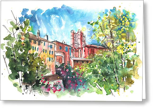 Cathedral Sainte Cecile In Albi 01 Greeting Card by Miki De Goodaboom