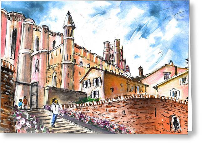 Cathedral Sainte Cecile In Albi 02 Greeting Card by Miki De Goodaboom