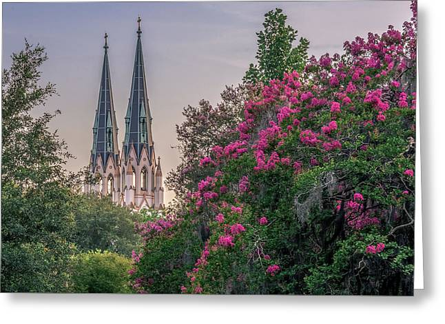 Cathedral Spires At Sunset Greeting Card by Rob Sellers